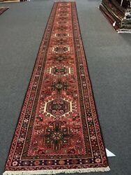 """On Sale Beautiful Vintage Hand Knotted Fine Heriz Tribal Runner2'7""""x18'11""""2075"""