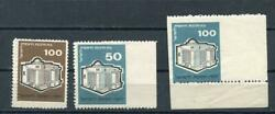Israe Jnf Kkl Double Perf + 2 Fantails On Right Error Stamps X3 Mnh 733