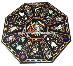 Marble Dining Coffee Table Top Marquetry Inlay Work Art Handmade Home Decor H458