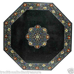24 Marble Coffee Table Set Mosaic Handmade Quality Columbus Day Occasion Decor