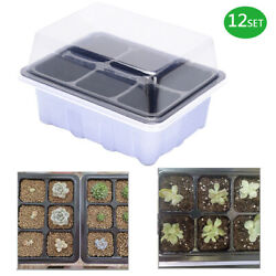 12trays , Total 72 Cell Tray Plant Germination Kit Garden Seed Starting Tray New