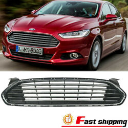 Front Bumper Upper Grill Chrome Radiator Grille Fit 2013-2016 Ford Fusion/mondeo