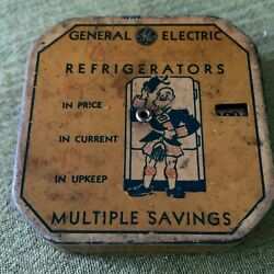 Antique Ge General Electric Refrigerator Thrifty Savings Register Bank 5.00