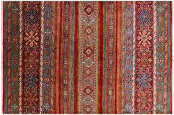 Khorjin Super Kazak Hand Knotted Wool Rug 5and039 9 X 8and039 7 - Q4861
