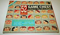 Vintage Transogram 1958 Assortment Of Games 52 Variety Game Chest