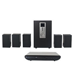 Craig CHT755 Home Theater 5.1 Channel Audio Output System w DVD Player in Black