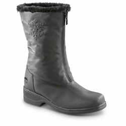Totes Women Staride Waterproof Winter Black Boots $35.00