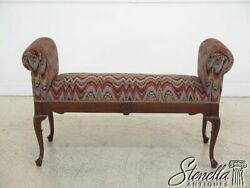 45548ec Newly Upholstered Queen Anne Mahogany Window Bench