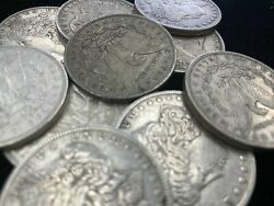 Hsandc Morgan Dollar Half Roll - 10 Different Years/mints Coins - Xf Or Better