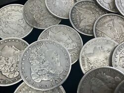 Hsandc Morgan Dollar Half Roll - 10 Different Years/mints Coins - Fine Or Better