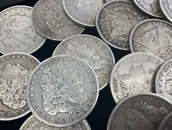 Hsandc Morgan Dollar Half Roll - 10 Various Years/mints Coins - Fine Or Better