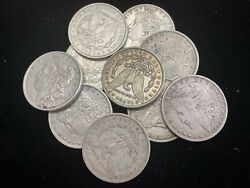 Hsandc Morgan Dollar Half Roll - 10 Various Years/mints Coins - Xf Or Better