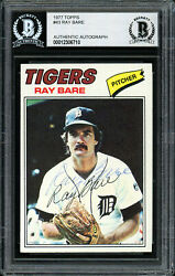 Ray Bare Autographed Signed 1977 Topps Card 43 Detroit Tigers Beckett 12306710
