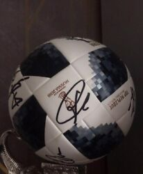 Soccer Ball From The 2018 Fifa World Cup Autographed By The German National Team