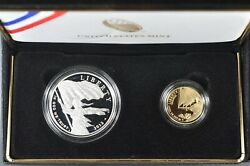 2012 Star Spangled Banner Commemorative 2-coin Proof Set 5 Gold And 1 Silver