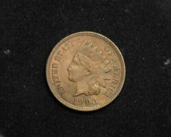 Hsandc 1903 Indian Head Penny/cent Bu - Us Coin
