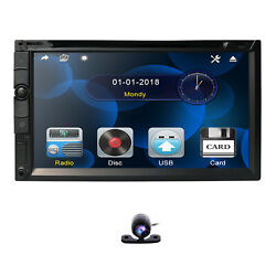 2020 Double 2din 7 Car Stereo Radio Cd Dvd Player In Dash Bluetooth Mp3+camera