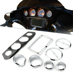 Speedometer Gauge Bezel Trim For Harley Touring Electra Street Glide 2014-up Us