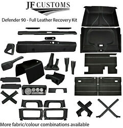 White Stitch Leather Covers For Defender 90 83-06 Full Interior Upholstery Kit