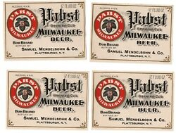4- 1900s Pabst Brewing Co Milwaukee Wisconsin Pre-prohibition Pabst Beer Label