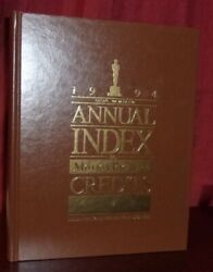 Annual Index To Motion Picture Credits 1994 First Edition Hardcover Leatherette
