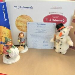 Goebel M.i. Hummel Limited Edition First Issue Collectorand039s Set Frosty Friends Wi