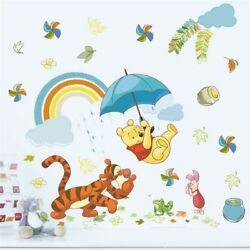 cartoon winnie pooh wall stickers for kids rooms home decor