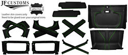 Green Stitch Leather Covers For Defender 90 83-06 Interior Re Upholstery Top Kit