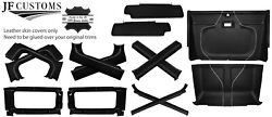 White Stitch Leather Covers For Defender 90 83-06 Interior Upholstery Top Kit