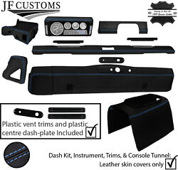 Blue Stitch Leather Covers For Defender 90 83-06 Interior Reupholstery Mid Kit