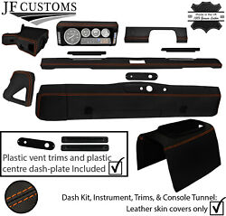 Orange Stitch Leather Covers For Defender 90 83-06 Interior Upholstery Mid Kit