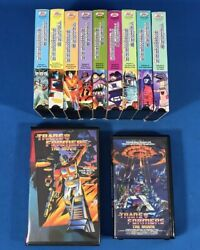 Transformers More Than Meets The Eye Vhs Tapes Episodes 1 2 3 4 5 6 7 8 9 Movie