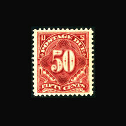 Usa Postage Due Stamp- Mint Ogandh, Xf Sj44 A Real Beauty, Large Well Balanced Ma