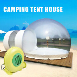 3m Inflatable Bubble Tent W/quiet Air Blower Eco Home Tent Diy House Camping New
