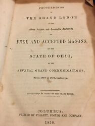 Proceedings The Grand Lodge Free Accepted Masons State Ohio 1858 Fraternity Anci