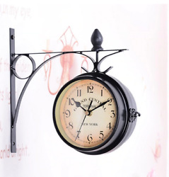 Double clock Sided Outside classic decoration inyour homeWall gift for your wall