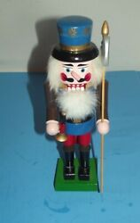 Merry Christmas Soldier Nutcracker Wood Holiday Decoration 10 Tall Wooden Guard