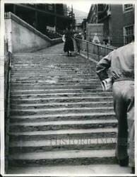 1961 Press Photo Streets Of Sewell Chile Are Stairs And More Stairs No Level Stree