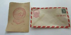 Florida East Coast Railway Envelope With Black 4 Cent Lincoln Stamp Uncancelled