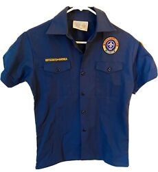 Boy Scouts Of America Size Youth Large Official Cub Scout Shirt Blue Button