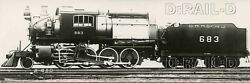 9dd938 Rp 1920s/50s Crr Of Nj Central Railroad New Jersey 2-8-0c Loco 683