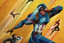 Captain America Old School Poster 24x36 Inches Marvel Comics