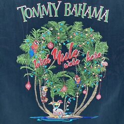 Tommy Bahama Wish Yule Were Here Menand039s Silk Embroidered Christmas Hawaiian Shirt
