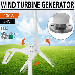 400W Wind Turbine Generator Unit DC 24V Charger Controller Home Power Energy $96.30