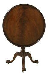 49842ec Baker Stately Homes Mahogany Tilt Top Ball And Claw Table