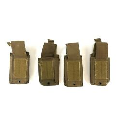Lot Of 4 Usmc Speed Reload Pouch, Us Marine Corps Molle Coyote Tan Defect