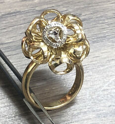 Di Modolo 18k Yellow And White Gold Triadra Ring With Pave Diamonds Size 7