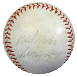Willie Mays Autographed Nl Giles Baseball 1950 S Best Wishes Psa/dna Coa Z05624
