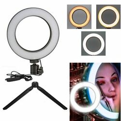 Led Studio Ring Light Dimmable Light Photo Video Lamp + Stand For Camera Shoot