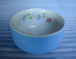 VINTAGE HALL#x27;S MORNING GLORY SMALL 4quot; BLUE BOWL or DISH NESTING 1940#x27;s VERY NICE